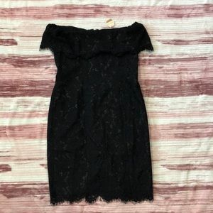NWT PINKBLUSH Black Lace Cocktail Dress